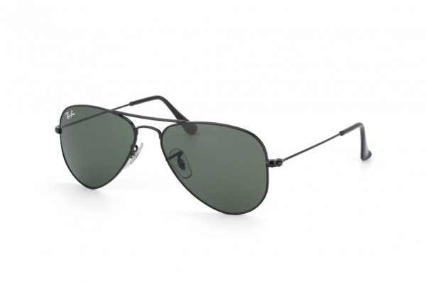 Очки Ray-Ban Aviator Small Metal RB3044-L2848 Black | Natural Green (G-15XLT)