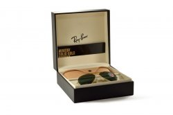 Очки Ray-Ban Aviator Solid Gold RB3025K-160-N5 Gold | Neophan Polar Green P3 Plus