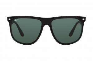 Очки Ray-Ban Blaze Boyfriend RB4447N-601S-71 Matt Black | Grey / Green