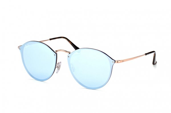 Очки Ray-Ban Blaze Round RB3574N-9035-1U Dark Arista | Light Violet Mirror