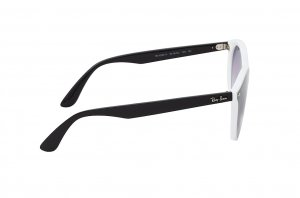 Очки Ray-Ban Blaze Youngster RB4380N-6416-0U Black / White | Gradient Violet Mirror