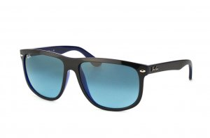 Очки Ray-Ban Boyfriend RB4147-6093-4M Black On Green Transparent | Gradient Blue