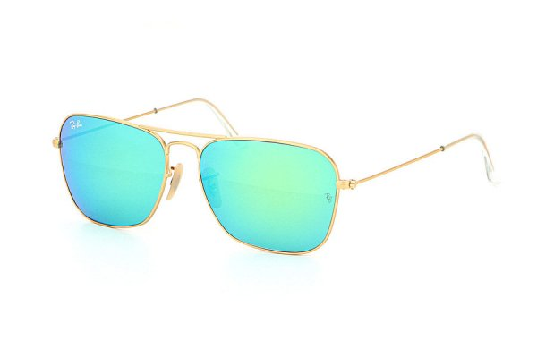 Очки Ray-Ban Caravan Flash Lenses RB3136-112-19 Matt Arista / Green Mirror Flash Lenses