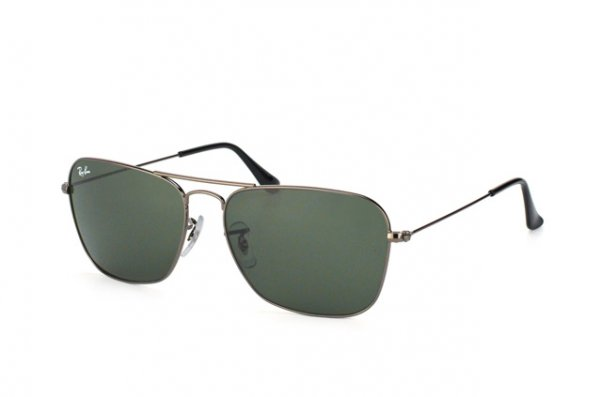 Очки Ray-Ban Caravan RB3136-004 Gunmetal/Natural Green (G-15XLT)