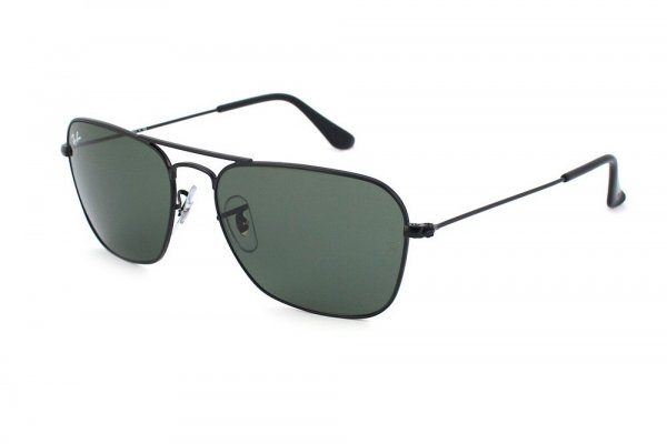 Очки Ray-Ban Caravan RB3136-006 Matte Black | Natural Green (G-15 XLT)