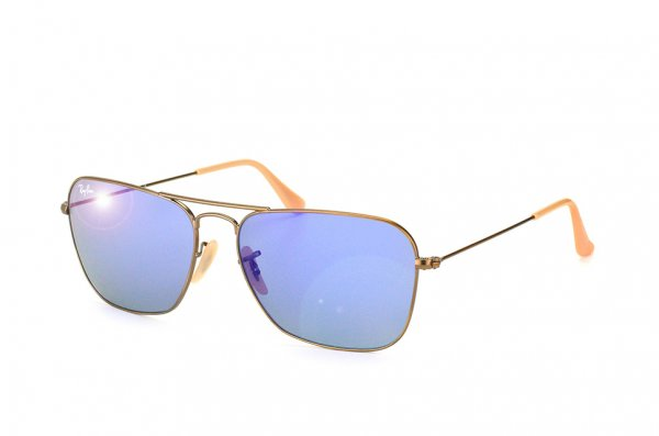 Очки Ray-Ban Caravan RB3136-167-68 Matte Bronze | Brown Faded Violet/Blue Mirror