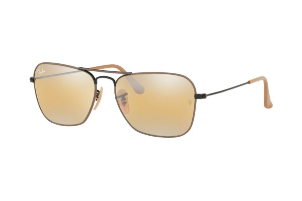 Очки Ray-Ban Caravan RB3136-9153-AG Bronze / Black | Yellow Bi-Mirror