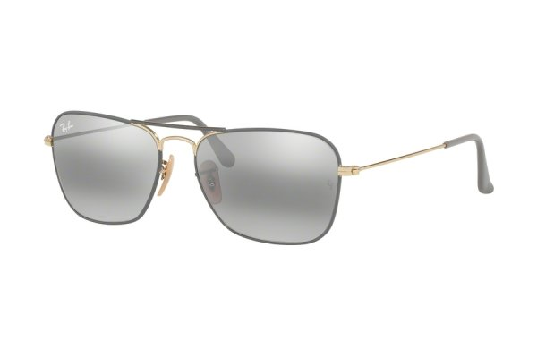 Очки Ray-Ban Caravan RB3136-9154-AH Grey / Arista | Grey Bi-Mirror