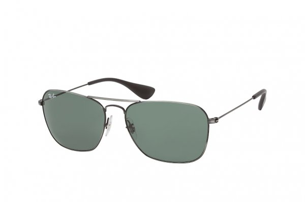Очки Ray-Ban Caravan RB3610-9139-71 Dark Gunmetal | Green / Grey