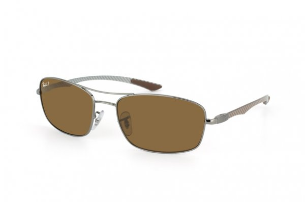 Очки Ray-Ban Carbon Fibre RB8309-004-83 Gunmetal | Poly. Polar Brown Polarized P3