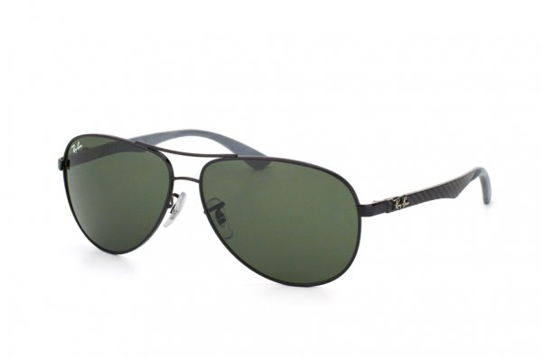 Очки Ray-Ban Carbon Fibre RB8313-002 Carbon Black | Natural Green (G-15XLT)
