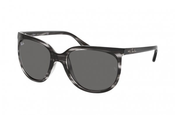 Очки Ray-Ban Cats 1000 RB4126-6430-B1 Stripped Grey | Dark Grey