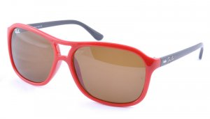 Очки Ray-Ban Cats 4000 RB4128-730-51 Red On Black/Faded Brown
