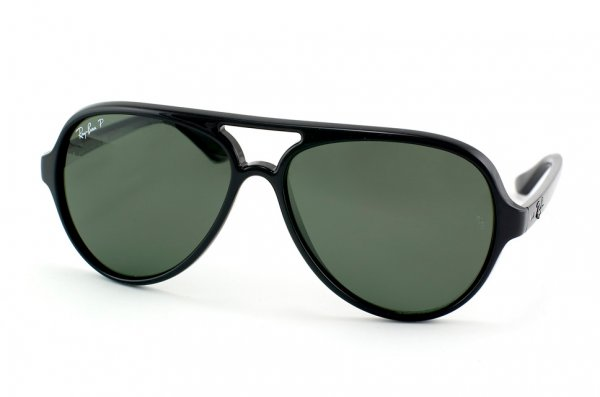 Очки Ray-Ban Cats 5000 RB4125-601-58 Black  | Natural Green Polarized