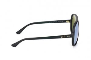 Очки Ray-Ban Cats 5000 RB4125-601S-30 Matt black |  Green / Silver Mirror