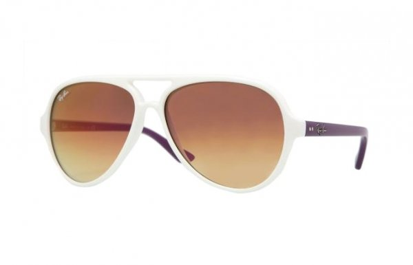 Очки Ray-Ban Cats 5000 RB4125-800-70 Violet White/Violet Mirror Faded Brown