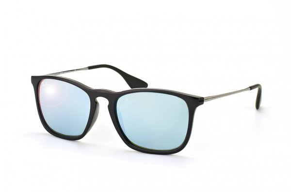 Очки Ray-Ban Chris RB4187-601-30 Black | Crystal Silver Mirror