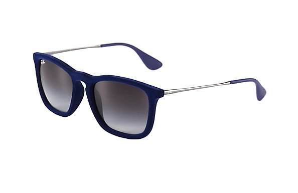 Очки Ray-Ban Chris Velvet RB4187-6081-8G Velvet Blue/Gunmetal |  Grey Gradient Dark Grey Gadient