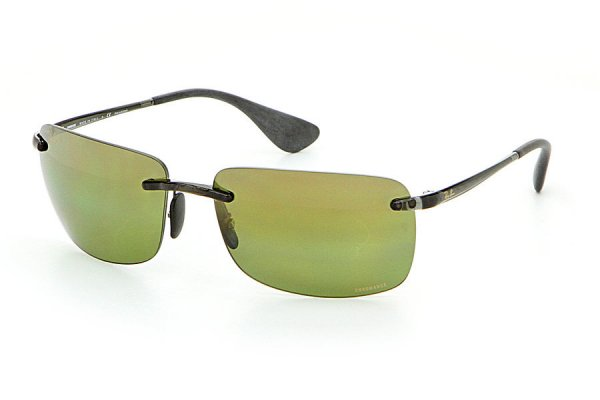 Очки Ray-Ban Chromance RB4255-621-6O Transparent Grey | Green Mirror Chromance Polarized
