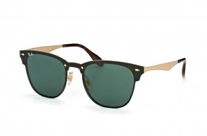Очки Ray-Ban Clubmaster Blaze RB3576N-043-71 Black / Arista | Green / Grey
