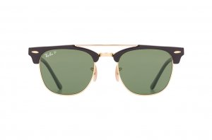 Очки Ray-Ban Clubmaster Double Bridge RB3816-901-58 Black / Arista  | Green Polarized