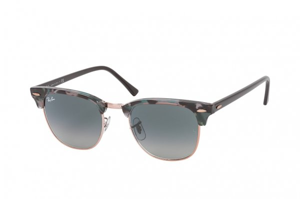 Очки Ray-Ban Clubmaster Fleck RB3016-1255-71 Black /Dark Green | Green / Grey