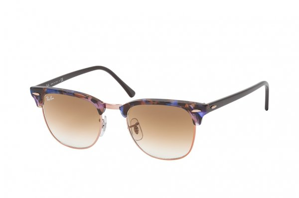 Очки Ray-Ban Clubmaster Fleck RB3016-1256-51 Black / Blue | Faded Brown