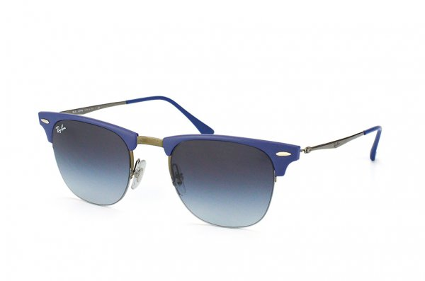 Очки Ray-Ban Clubmaster LightRay RB8056-165-8G Blue / Ruthenium | Poly. Gradient Grey