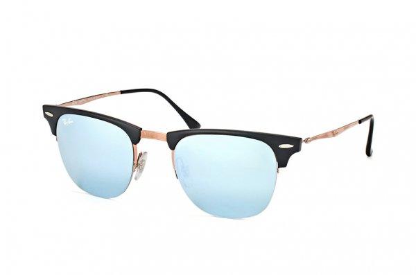 Очки Ray-Ban Clubmaster LightRay RB8056-176-30 Black / Light Brown | Crystal Silver Mirror