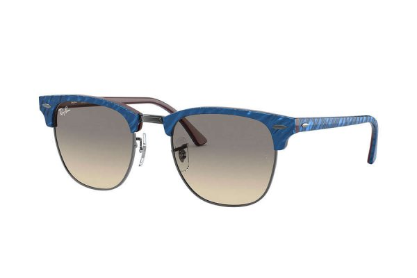Очки Ray-Ban Clubmaster Marble RB3016-1310-32 Marble Blue | Gradient Grey