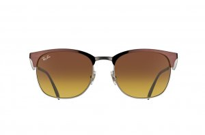 Очки Ray-Ban Clubmaster Metal RB3538-188-13 Brown / Black | Faded Brown