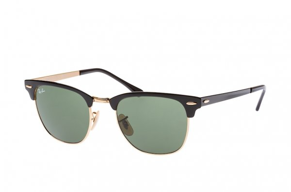Очки Ray-Ban Clubmaster Metal RB3716-187 Black / Arista | Natural Green (G-15XLT)