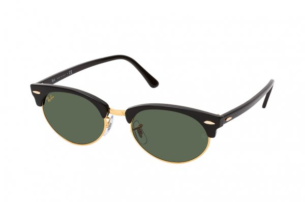 Очки Ray-Ban Clubmaster Oval RB3946-1303-31 Black | Natural Green