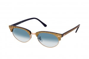 Очки Ray-Ban Clubmaster Oval RB3946-1306-3F Gold | Natural Blue