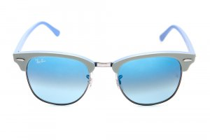Очки Ray-Ban Clubmaster RB3016-1102-3Q Light Grey Azure/Azure Silver Mirror