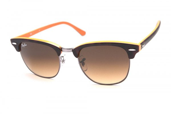 Очки Ray-Ban Clubmaster RB3016-1126-85 Dark Havana/Yellow | Brown Faded Yellow