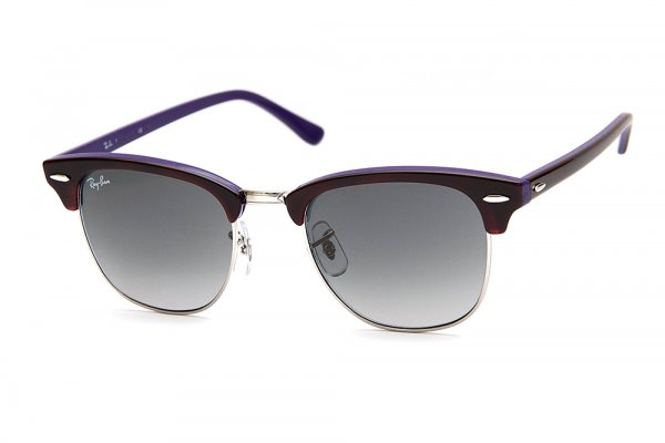 Очки Ray-Ban Clubmaster RB3016-1128-71 Havana/Violet | Grey/Green