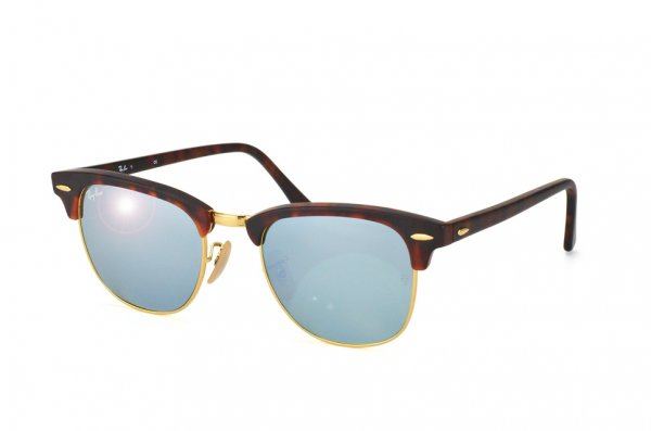 Очки Ray-Ban Clubmaster RB3016-1145-30 Matte Havana | Crystal Silver Mirror