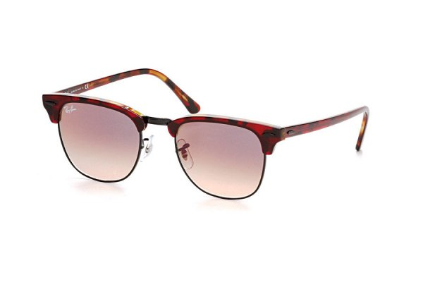 Очки Ray-Ban Clubmaster RB3016-1275-3B Red Havana | Violet Gradient