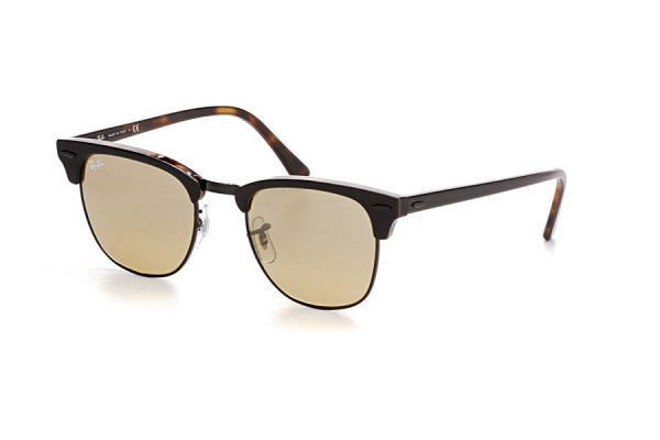 Очки Ray-Ban Clubmaster RB3016-1277-3K Black / Havana | Brown Gradient Mirror
