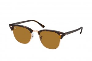 Очки Ray-Ban Clubmaster RB3016-1309-33 Dark Havana | Natural Brown