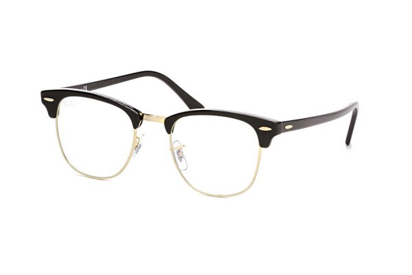 Очки Ray-Ban Clubmaster RB3016-901-BF Black/Arista | Clear