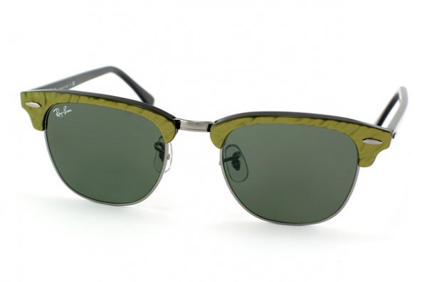 Очки Ray-Ban Clubmaster RB3016-983 Gunmetal/Green | Natural Green (G-15)