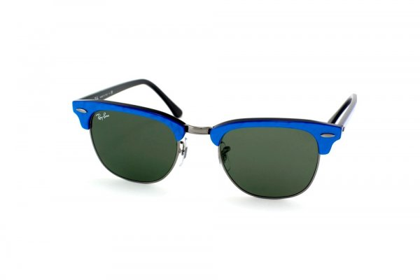 Очки Ray-Ban Clubmaster RB3016-984 Dark Blue / Gunmetal | Natural Green (G-15 XLT)