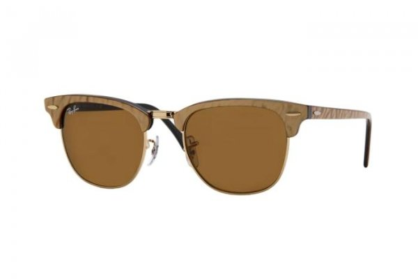 Очки Ray-Ban Clubmaster RB3016-987 Arista/Brown | Natural Brown(B-15)