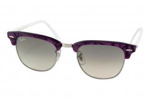 Очки Ray-Ban Clubmaster RB3016-998-32 Silver/Purple/Gradient Grey