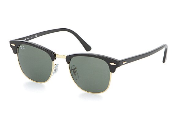 Очки Ray-Ban Clubmaster RB3016-W0365 Ebony/Arista/Natural Green (G-15XLT)