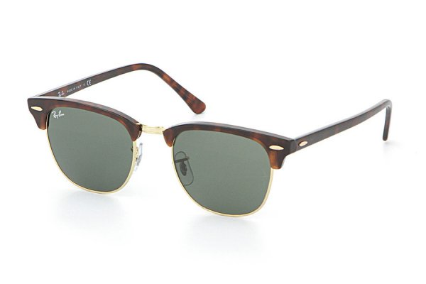 Очки Ray-Ban Clubmaster RB3016-W0366 Mock Tortoise/Arista/Natural Green (G-15XLT)