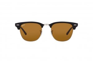 Очки Ray-Ban Clubmaster RB3016-W3387 Black | Natural Brown