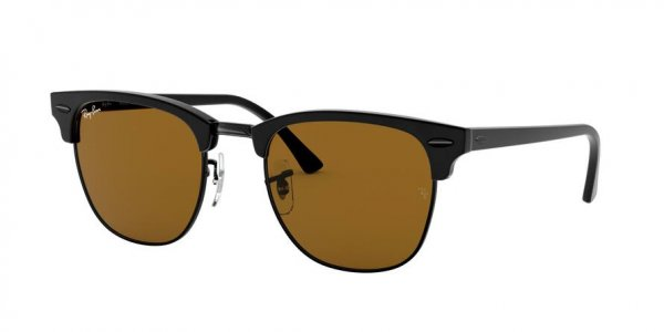 Очки Ray-Ban Clubmaster RB3016-W3389 Black | Natural Brown
